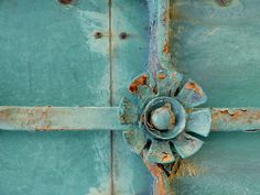 beautiful old rusted out door knob