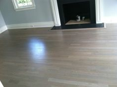 For white washed and gray stained floors, water based poly is a must.