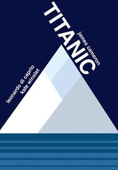 Titanic (1997) ~ Minimal Movie Poster by Natalia ~ Swiss Style Design #amusementphile