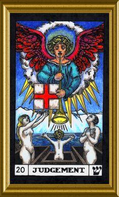20 Judgement on Zodiac Arts Judgement Tarot Card, Zodiac Art, Oracle Cards, Tarot Decks, Tarot Cards, Houston, Symbols, Fictional Characters, Angels