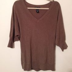 NY&C 3/4 Sleeve Light Weight Sweater 100% Acrylic New York & Company Sweaters Crew & Scoop Necks