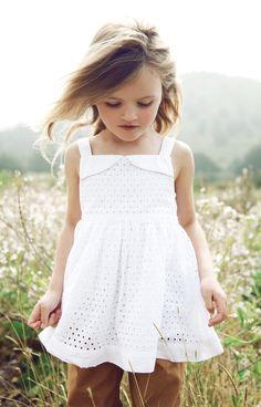 white eyelet lace dress   #fashion #kids