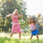 hula hooping in unison