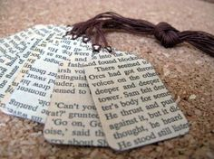 Book Page bookmarks. A great art idea for children and teens...even adults!