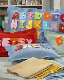 ABC Felt Pillow that will be made for both boys at some point