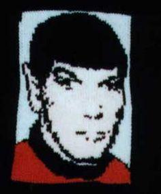 Knitted Spock from Star Trek