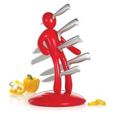 The Ex 2nd Edition Red 5-piece Kitchen Knife Set | Overstock.com Shopping - The Best Deals on Block Sets