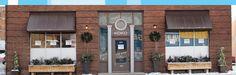 Koko Patisserie in Regina, SK - love the planters! The Neighbourhood, Garage Doors, Planters, New Homes, Outdoor Decor, House, Home Decor, The Neighborhood, Decoration Home