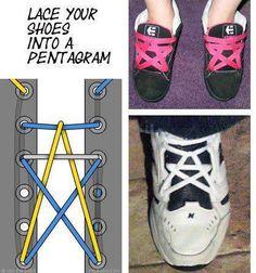 pentagramm schn rung outfit ideen pinterest schn rsenkel schuhe binden und binden. Black Bedroom Furniture Sets. Home Design Ideas