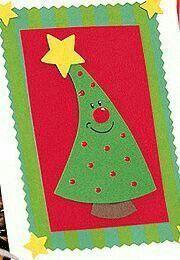 "Crafting for Christmas: making Christmas cards: ""Christmas tree"" - Weihnachten - Christmas Card Crafts, Christmas Cards To Make, Christmas Makes, Homemade Christmas, Kids Christmas, Christmas Ornaments, Christmas Fabric, Navidad Diy, Theme Noel"