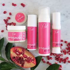 Our natural anti-aging, Pomegranate Skincare Collection, is gentle enough for all skin types & jam packed with natural & organic ingredients to naturally plump your skin and fighting signs of aging! Enter here & earn more entries for sharing & referring your buddies to enter too!