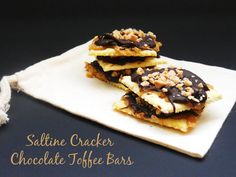 . . . Cookie Time Tuesday-Saltine Cracker Toffee Bars with Delightfully Noted . . .