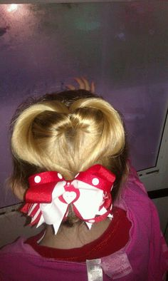 quick and easy girls valentines day hair style!!