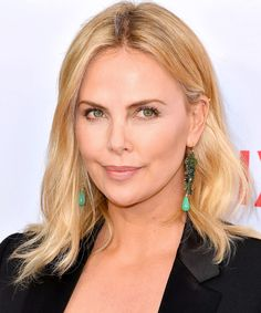 Charlize Theron - Round Face, Medium-Length