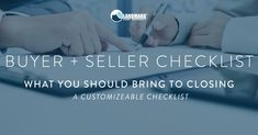 Real Estate Agents: here is a customizable checklist for both your buyers and sellers on Closing Day! Download the PDF, customize it with your contact info, where and when the closing takes place and more, and send it onto them so they bring EVERYTHING they need for closing. You won't want to miss this free tool!