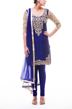 Beautiful Royal Blue Pajami Suit!!