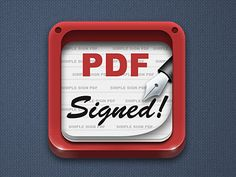 Dribbble - Signed PDF icon by Northwood
