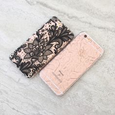 Black Lace and Clear Crystalline from Elemental Cases. Available for iPhone 6/6s and 6 Plus/6s Plus