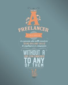 Amazing Typographic Quote Poster {multiple typefaces} // I'm not for free (thevisualaficionado)