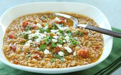 Tomato Bulgur Soup with Warm Spices - turned out super yummy with the addition of Garam Masala, Curry, and Cumin.  :)