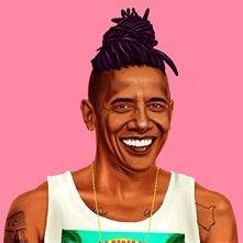 Balibart Obama - Affiche d'art Amit Shimoni - rose