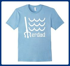 Mens Merdad with Trident and Waves Funny Dad T Shirt Large Baby Blue - Relatives and family shirts (*Amazon Partner-Link)