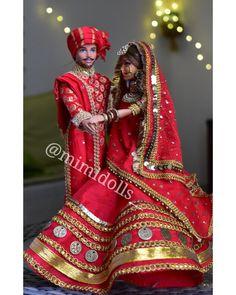 Barbie and Ken as Indian bride-groom dolls. Indian Wedding Gifts, Wedding Gifts For Bride, Indian Wedding Outfits, Indian Bridal, Punjabi Wedding, Wedding Couples, Wedding Ideas, Wedding Doll, Barbie Wedding