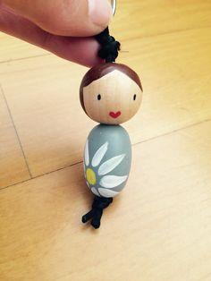 key chain, bead doll, sleutelhanger