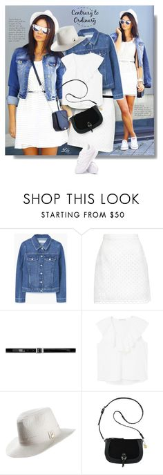 """Get the look - Sporty chic"" by breathing-style ❤ liked on Polyvore featuring MANGO, Carven, Yves Saint Laurent, Melissa Odabash, Nine West and Reebok"