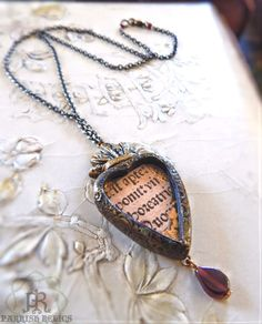 Medieval Incunabula Sacred Heart Necklace by ParrishRelics on Etsy Soldering Jewelry, Resin Jewelry, Pendant Jewelry, Pendant Necklace, Jewellery, I Love Jewelry, Jewelry Ideas, Jewelry Design, Necklace Ideas