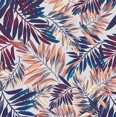 """Tropical Leaves"" on Behance - elisa passino"