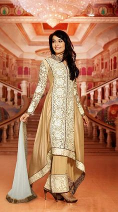 Zoya In Golden Cream Parallel Pant Suit 2FD3333972