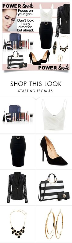 """""""What's Your Power Look?"""" by rmhodgdon ❤ liked on Polyvore featuring Trish McEvoy, Doublju, Liliana, Dasein, Charlotte Russe, Armitron and MyPowerLook"""