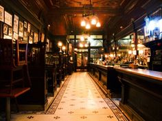 The Old Town Bar and Restaurant - As the name suggests is one of the oldest bars in new york city. Most of the furnishings and decor are original, including New York's oldest dumbwaiter that ferries food orders from the upstairs kitchen down to the bar.
