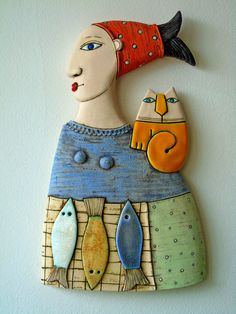 A woman selling fish ,Fine Art Ceramics, Ceramic Sculpture by MakedonskaCeramicArt on Etsy https://www.etsy.com/listing/580499254/a-woman-selling-fish-fine-art-ceramics