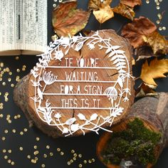 If you're waiting for a sign by mrYen on Etsy