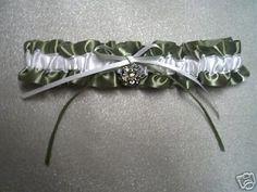 Army wedding garter