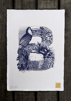 Beautiful Fauna and Flora Illustrated Alphabet by Valérie Hugo