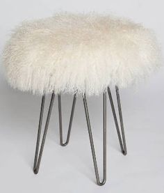 Curly Hairpin Stool - You could make this!