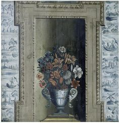 Vase with Flowers (chimney board), about 1720, Oil on pine panel. Supported by the Friends of the V&A.