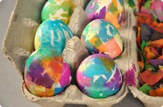 Confetti Dyed Easter Eggs #activity #kids