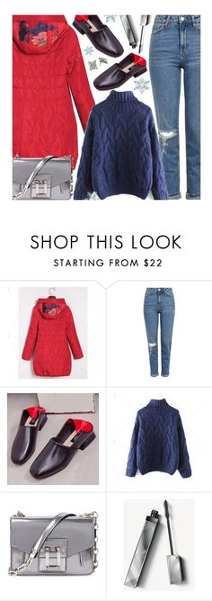 """Casual"" by beebeely-look ❤ liked on Polyvore featuring Topshop, Proenza Schouler, Burberry, Sweater, winterfashion, wintersweater, twinkledeals and puffers"