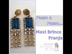 NM Bijoux - Passo a Passo - Maxi Brinco de Franja