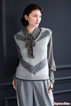Crochet Socks Pattern, Vest Pattern, Knit Patterns, Knitted Poncho, Knit Vest, Knitted Shawls, Drops Karisma, Loom Scarf, Tejidos