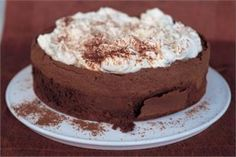 CHOCOLATE CLOUD CAKEOn days when I want the warmth of the hearth rather than the hurly burly of the city streets I stay in and read cookery books, and this recipe comes from just the sort of book that gives most succour, Classic Home Desserts by Richard Sax.