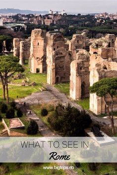 Terme di Caracalla. What to see in Rome, Italy. All places on the map. #rome #italy #travel