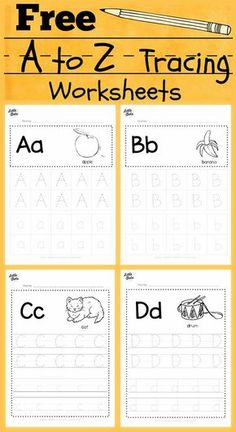 free alphabet tracing worksheets for letter a to z suitable for preschool, pre-k or kindergarten class. There are two layouts available, tracing with lines or free form tracing with boxes. Visit us at for more preschool related activities. Pre K Worksheets, Alphabet Tracing Worksheets, Tracing Letters, Free Alphabet Tracing Printables, Abc Tracing, Tracing Sheets, Print Letters, Printable Shapes, Toddler Worksheets