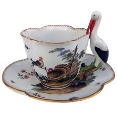 18th Century Meissen Cup and Saucer | From a unique collection of antique and modern porcelain at https://www.1stdibs.com/furniture/dining-entertaining/porcelain/