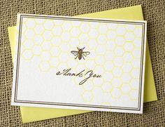 Bee thank you cards.