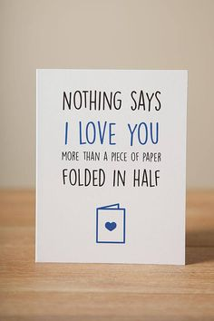 Greeting Card I Love You Valentine Just Because Funny